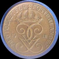 SWEDEN 1912 5 ORE OLD WORLD COIN