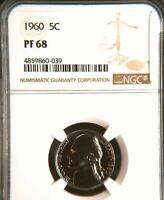 USA 1960 NICKEL PROOF 68 NGC   WOULD YOU PAY $3.795 FOR THIS? I HOPE NOT BUT