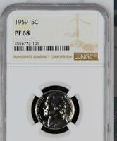 USA 1959 NICKEL PROOF 68 NGC   WOULD YOU PAY $2 760 FOR THIS? I HOPE NOT BUT