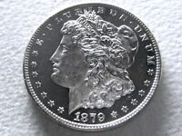 1879-S MORGAN DOLLAR, SHIMMERING ULTRA DMPL OBV - PROOF-LIKE - ORIG 8-H