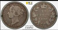 CANADA 1890 H 10 CENTS PCGS VG10