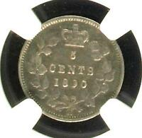 CANADA 1890 H 5 CENTS NGC VF20