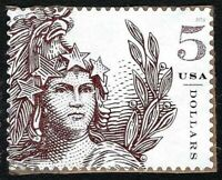 2018 HIGH VALUE $5 STATUE OF FREEDOM US STAMP USED LIGHTLY CANCELLED SCOTT 5297