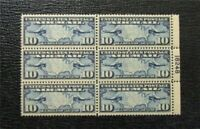 NYSTAMPS US AIR MAIL PLATE BLOCK STAMP C7 MINT OG NH P BLOCK