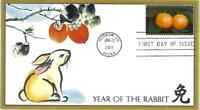 CHINESE NEW YEAR OF THE RABBIT 4492 FDC FLEETWOOD CACHET B77