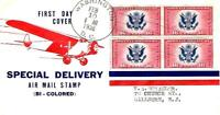 SPECIAL DELIVERY AIR MAIL CE 2 FDC ANDERSON CACHET B7806