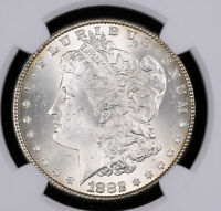 1882 MORGAN SILVER DOLLAR COIN NGC MINT STATE 63