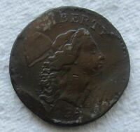 1794 1C BN FLOWING HAIR LIBERTY CAP LARGE CENT VF / EXTRA FINE  DETAIL DAMAGED