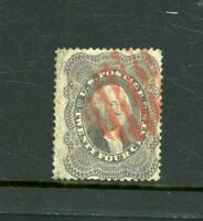 USA  1857/61   24C  RED POSTMARK  SG 41A    FINE USED