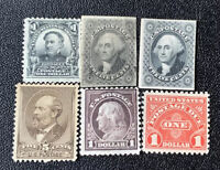 1901 1940: UNUSED US STAMPS COLLECTIONS LOTS 19TH CENTURY:US