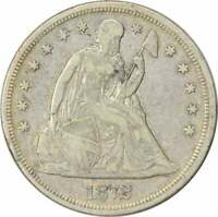 1872 LIBERTY SEATED SILVER DOLLAR VF UNCERTIFIED