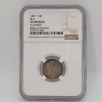 1827 CAPPED BUST SILVER 10C DIME JR-6 BAILY COMPETITIVE COLLECTION NGC EXTRA FINE  DETAIL