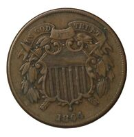 1864 TWO CENT PIECE 2C LARGE MOTTO UNITED STATES COIN KM94