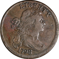 1798 LARGE CENT STYLE 1 HAIR  EXTRA FINE  S.145 R.3  EYE APPEAL  STRIKE