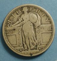 1917 STANDING LIBERTY QUARTER. FINE. A  LOOKING COIN.