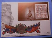 UK / GB 1953 FIVE SHILLING CROWN COIN COVER 45TH  ANNIVERSARY OF CORONATION PNC