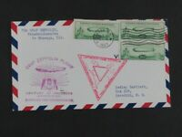 NYSTAMPS OLD US STAMP C18 USED ON ZEPPELIN FLIGHT COVER E27Y