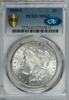 1900-S MORGAN PCGS MINT STATE 63 CAC-VERIFIED SILVER DOLLAR