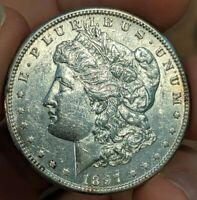 1897-S MORGAN SILVER DOLLAR $1 UNC UNCIRCULATED KEY DATE COIN  HOLE FILLER