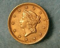 1852 LIBERTY HEAD $1 ONE DOLLAR UNITED STATES GOLD COIN VERY