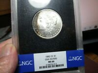 BETTER THAN GEM MORGAN  1882 CC  NGC  MS 66  WITH RAINBOW TO