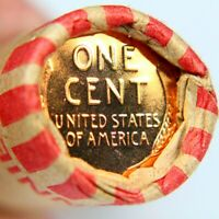 PROOF REVERSE WHEAT CENT SHOWING ON END OF 50 COIN WHEAT CEN