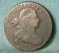 1802 DRAPED BUST LARGE CENT BETTER GRADE DETAILS UNITED STATES COIN