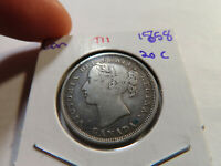 T11 CANADA 1858 20 CENT