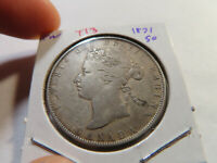 T13 CANADA 1871 50 CENT