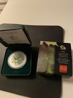 2002 $5 1OZ. SILVER MAPLE LEAF COLOURED COIN   SPRING MAPLE
