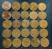 OLD AUSTRALIA COIN LOT   1966 1983   2 CENTS   25 COINS   LO