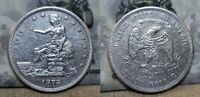 1878 S TRADE SILVER DOLLAR $1 XF/AU DETAILS CLEANED