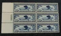 NYSTAMPS US AIR MAIL PLATE BLOCK STAMP  C10 MINT OG NH $130