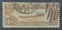NYSTAMPS US AIR MAIL STAMP  C14 USED $375   L30X480