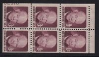 1971 EISENHOWER MNH BOOKLET PANE 1395B WITH 35  PLATE NUMBER