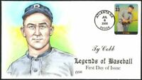 TY COBB HOF TIGERS LEGENDS OF BASEBALL COLLINS HAND PAINTED