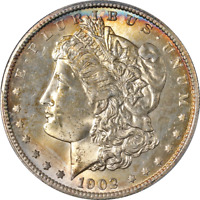 1902-S MORGAN SILVER DOLLAR PCGS MINT STATE 62  EYE APPEAL STRONG STRIKE