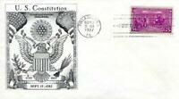 US CONSTITUTION ISSUE 798 FDC HISTORIC ARTS CACHET B8609