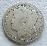1902-S $1 MORGAN SILVER DOLLAR  DATE CLEANED
