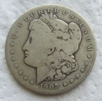 1902-S $1 MORGAN SILVER DOLLAR  KEY DATE CLEANED