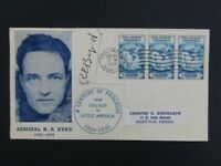 NYSTAMPS US STAMP ON BYRD NORTH POLE COVER RARE BYRD AUTOGRA