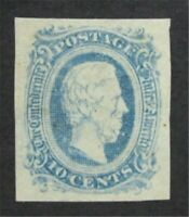 NYSTAMPS US CSA CONFEDERATE STAMP  11 MINT OG H    S10X1302