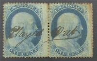 NYSTAMPS US STAMP  22 USED $1100 PAIR    S10X588