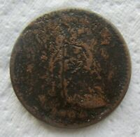 1794 LIBERTY CAP FLOWING HAIR LARGE CENT FULL DATE SHOWS CORRODED