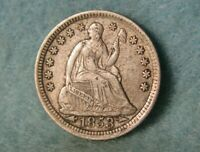 1853 SEATED LIBERTY SILVER HALF DIME HIGH GRADE UNITED STATE
