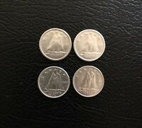 1955 1956 1957 1958 CANADIAN SILVER DIME 10 CENT PIECE CANAD