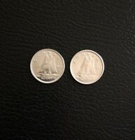 1965 CANADIAN SILVER DIME 10 CENT PIECE CANADA COIN 10C LOT