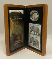 2004 CANADA THE GREAT GRIZZLY $8 LIMITED EDITION STAMP & .99