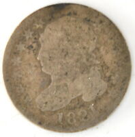 1821 CAPPED BUST DIME 10 CENT US 90 SILVER COIN UNITED STATES PHILADELPHIA MINT