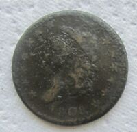 1808 CLASSIC HEAD LARGE CENT  DATE FINE DETAIL CORRODED FULL BOLD DATE